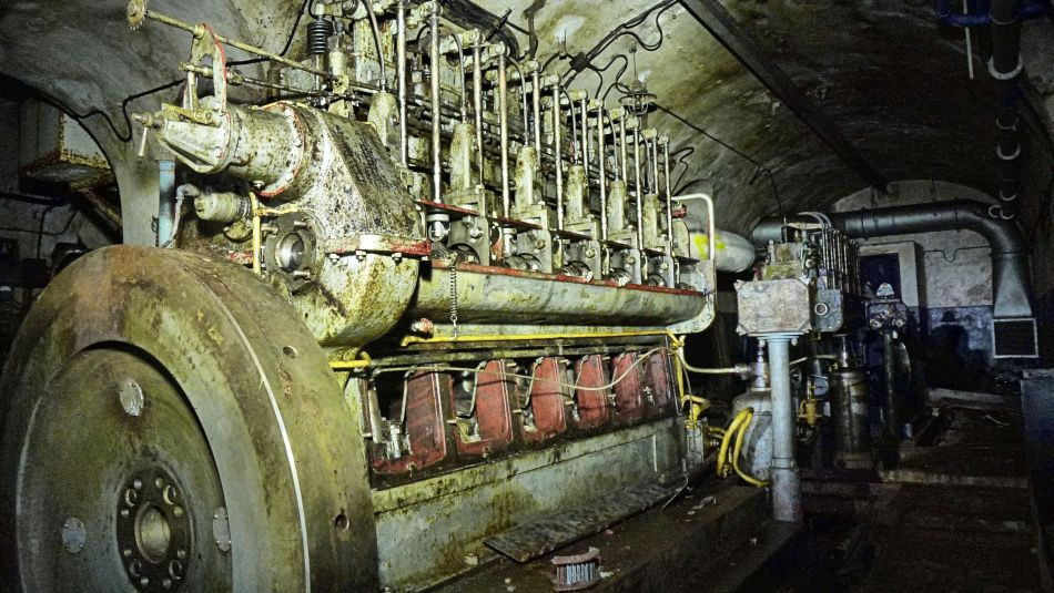 Motor im Kraftwerk
