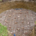 Baustahlgewebe für die Bodenplatte
