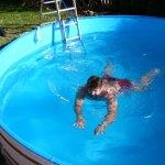 der erste Schwimmzug